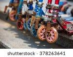 kick scooter wheels  close up ... | Shutterstock . vector #378263641