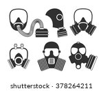 Gas Mask Vector Set For...