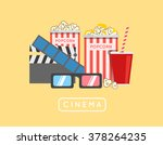 popcorn food vector... | Shutterstock .eps vector #378264235