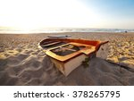 Old Boat On A Beach