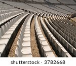 empty soccer stadium chairs | Shutterstock . vector #3782668