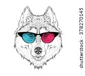 portrait of the husky in the... | Shutterstock .eps vector #378270145