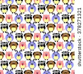seamless raster pattern with... | Shutterstock . vector #378271321
