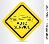 auto service sign with car...   Shutterstock .eps vector #378276904