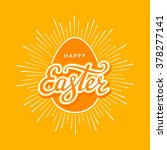 happy easter typographical... | Shutterstock .eps vector #378277141
