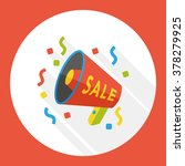 loudspeaker sale flat icon | Shutterstock .eps vector #378279925
