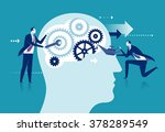 improvement of the brain concept | Shutterstock .eps vector #378289549