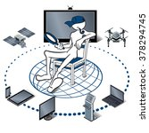 internet of things represented... | Shutterstock .eps vector #378294745