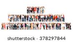 together we stand many... | Shutterstock . vector #378297844