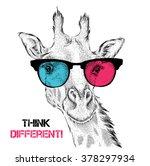 portrait of the giraffe in the... | Shutterstock .eps vector #378297934