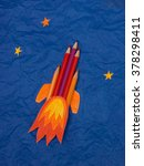 space rocket illustration with... | Shutterstock . vector #378298411