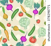 vector seamless pattern with... | Shutterstock .eps vector #378298771