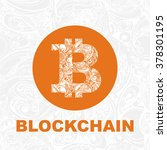 vector bitcoin symbol and...   Shutterstock .eps vector #378301195