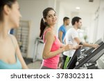 young people training in the gym | Shutterstock . vector #378302311