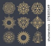 set vector abstract icons. the...   Shutterstock .eps vector #378305149