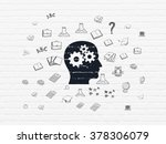 education concept  head with... | Shutterstock . vector #378306079