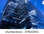 black skyscraper in business...   Shutterstock . vector #37832041