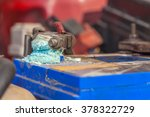 corrosion build up on car... | Shutterstock . vector #378322729