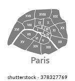paris administrative map | Shutterstock .eps vector #378327769