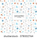 pattern of geometric shapes.... | Shutterstock .eps vector #378332764