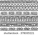 seamless apache boho pattern... | Shutterstock .eps vector #378335221