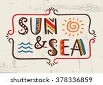 sun and sea word in ethnic... | Shutterstock .eps vector #378336859