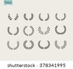 collection of premium circular... | Shutterstock .eps vector #378341995