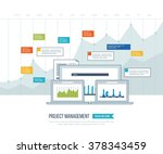 concept for business analysis ... | Shutterstock .eps vector #378343459
