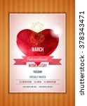 happy women's day party flyer.... | Shutterstock .eps vector #378343471