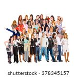 workforce concept isolated... | Shutterstock . vector #378345157