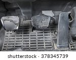 Small photo of Old & Dirty Brake and accelerator of manual transmission truck