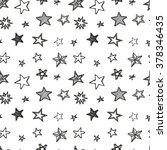 hand drawn stars doodle...   Shutterstock .eps vector #378346435