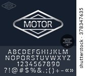 silver logo for motorbike and... | Shutterstock .eps vector #378347635
