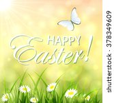 abstract easter background with ... | Shutterstock . vector #378349609