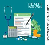 health insurance form concept... | Shutterstock .eps vector #378354895