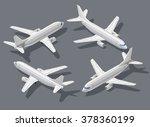 passenger's airliner high... | Shutterstock .eps vector #378360199