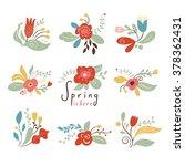 floral set  spring illustrations | Shutterstock .eps vector #378362431