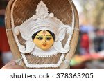 Small photo of Goddess Durga portrait , Durga puja is the biggest festival for Bengalis celebrated globally