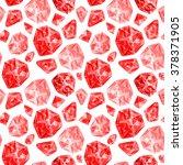 red gemstones abstract... | Shutterstock . vector #378371905