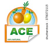 abstract label of ace for... | Shutterstock .eps vector #378372115