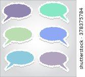 comics paper speech  bubbles... | Shutterstock .eps vector #378375784