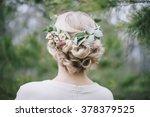 beautiful blonde bride's... | Shutterstock . vector #378379525