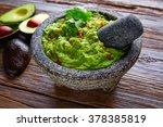 Avocado Guacamole On Molcajete...