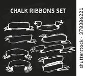 handdrawn chalk ribbons on... | Shutterstock .eps vector #378386221