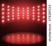 vector stage lighting... | Shutterstock .eps vector #378389215