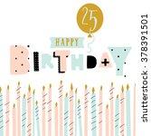 cute birthday greeting card... | Shutterstock .eps vector #378391501