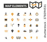 navigation icons | Shutterstock .eps vector #378394531