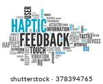 word cloud with haptic feedback ... | Shutterstock . vector #378394765