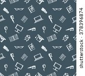 seamless raster pattern ... | Shutterstock . vector #378396874