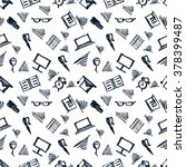 seamless raster pattern ... | Shutterstock . vector #378399487
